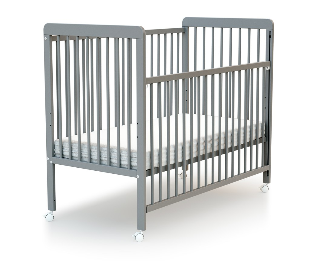Lit coulissant essentiel gris at4 - Lit bebe barreaux coulissant ...
