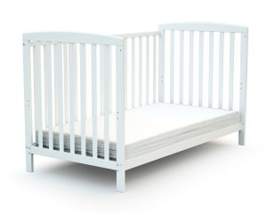Lit bébé large blanc