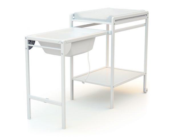 Table A Langer Avec Baignoire Essentiel Blanc At4