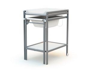 Table à langer avec baignoire escamotable