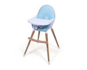 chaise bébé design bleu
