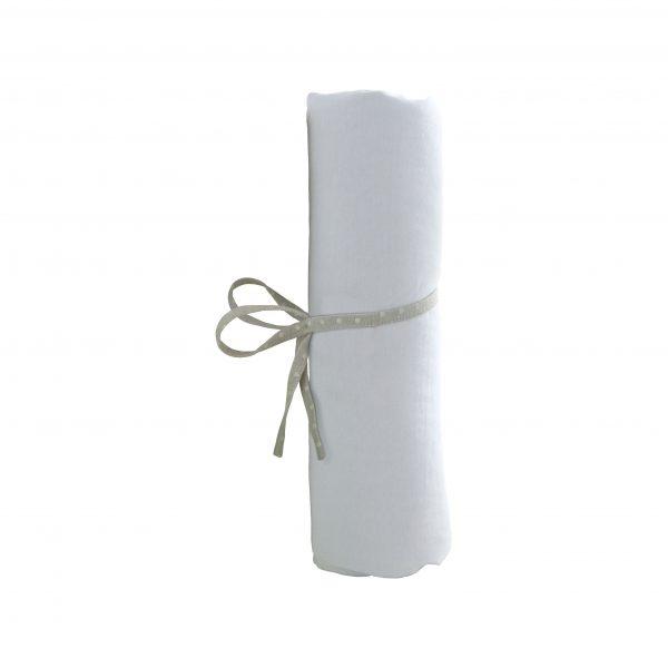 AT4 Drap Housse 40x80cm Blanc
