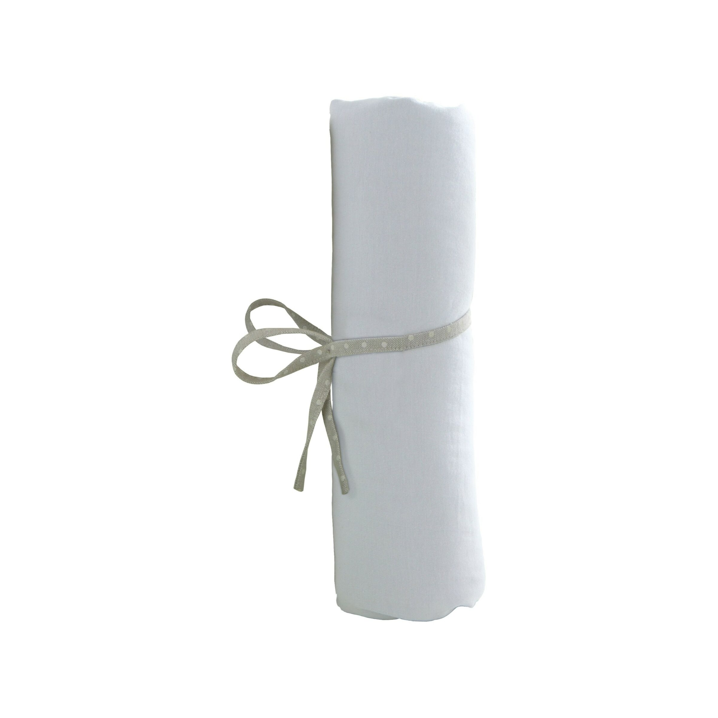 AT4 Drap Housse 60x120cm Blanc