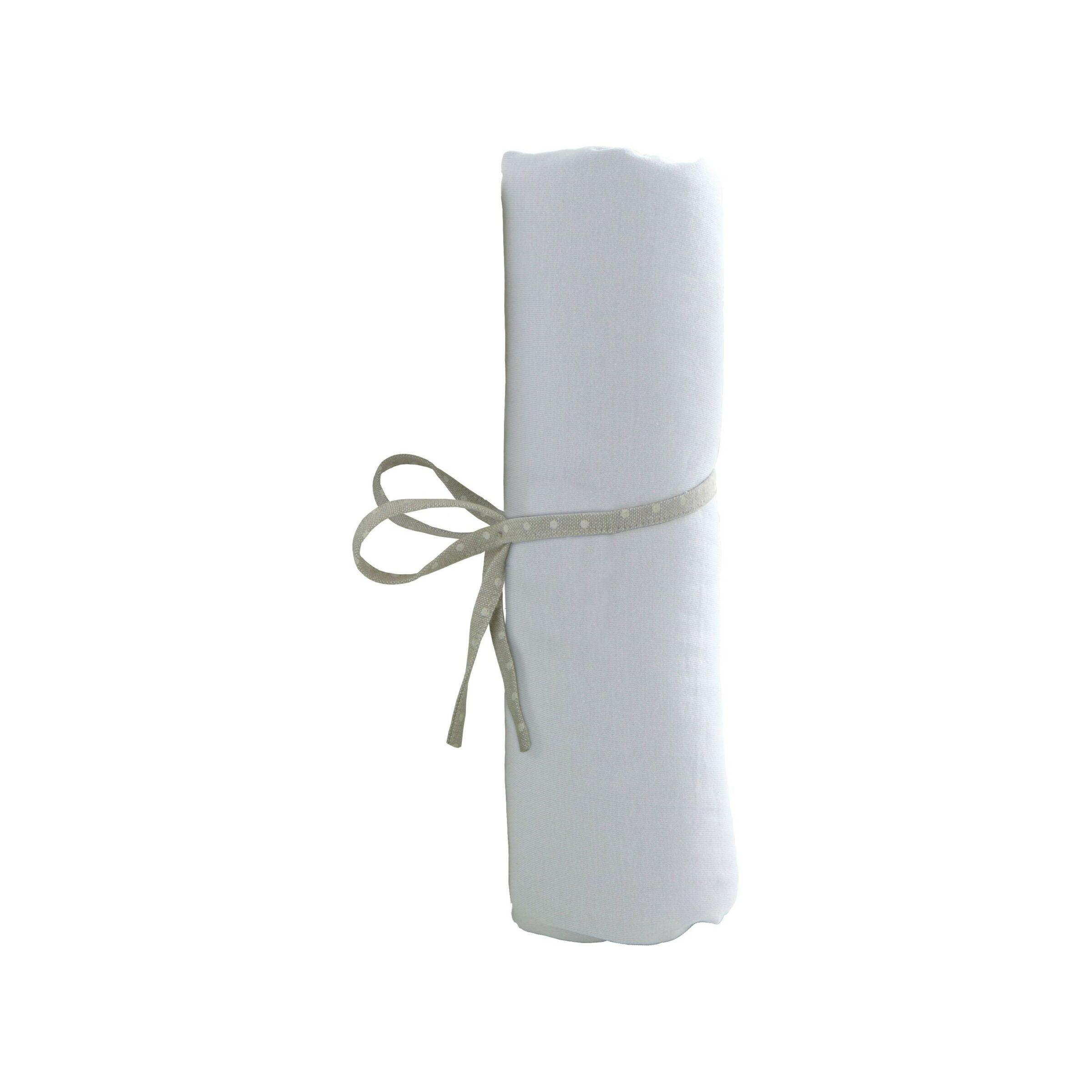 AT4 Drap Housse 70x140cm Blanc