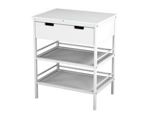 table à langer avec tiroir de rangement