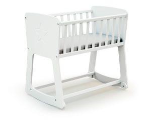Berceau bébé blanc.