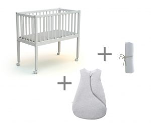 Assortiment berceau et linge de lit