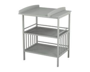 Table à langer avec étagères de rangement
