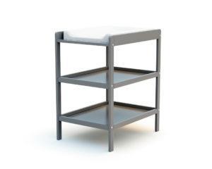 Table à langer 2 étagères grise