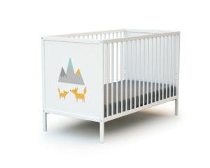 Lit bébé simple décor Renard