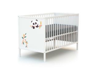 Lit bébé simple décor Panda