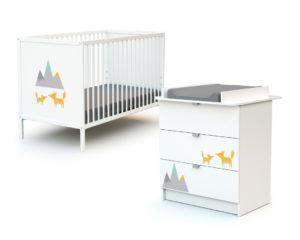 Duo WEBABY 3 tiroirs Renard